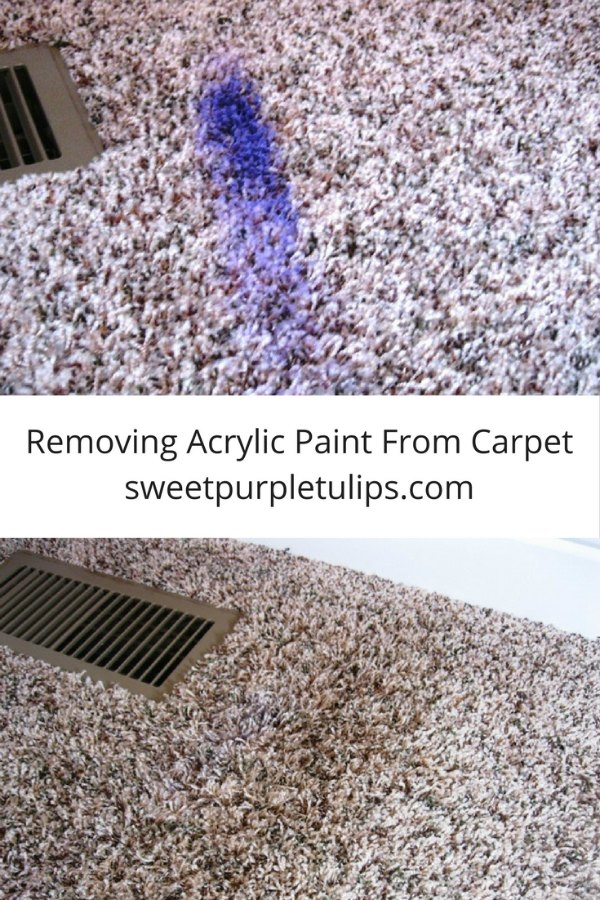 how to clean acrylic paint from carpet