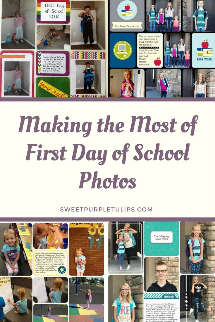 Making the Most of First Day of School Photos