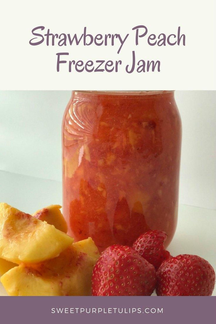 Strawberry Peach Freezer Jam