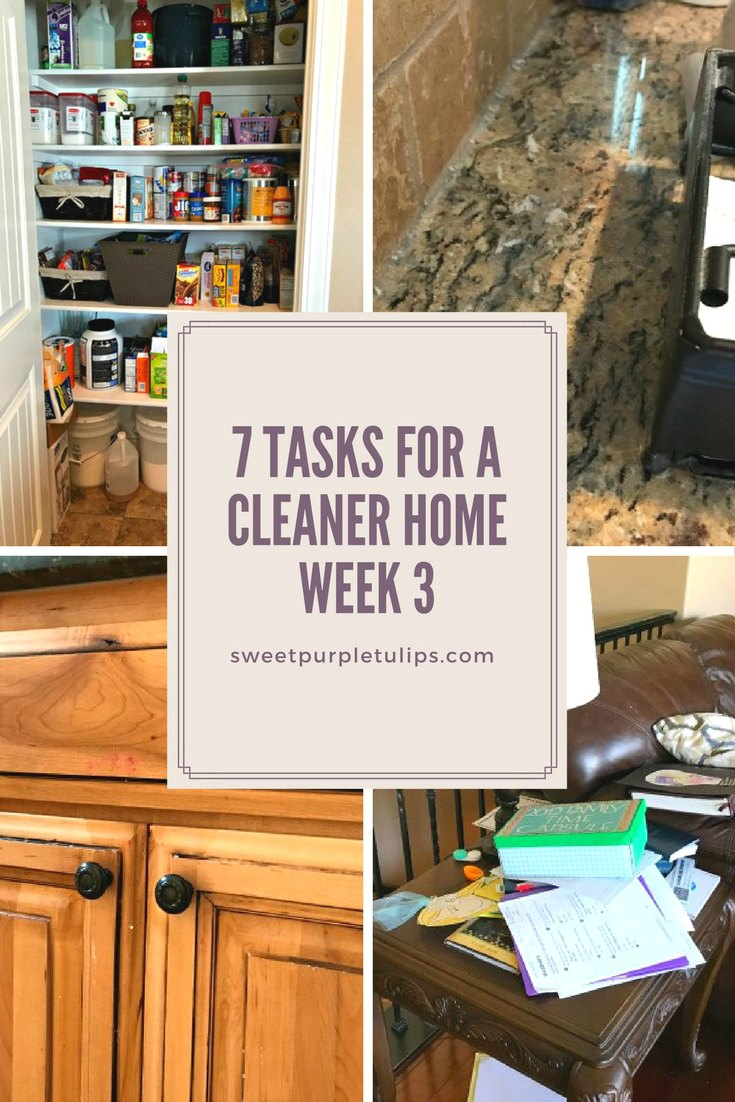 7 Tasks to a Cleaner Home: Week 3