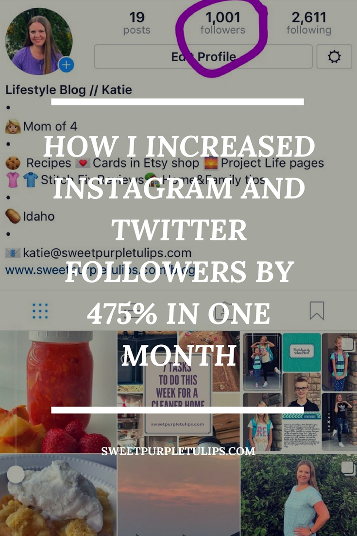 How I Increased Twitter and Instagram followers by 475% in one month