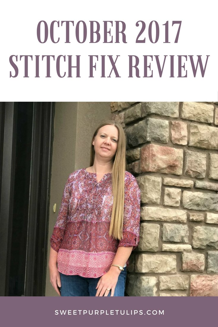 October 2017 Stitch Fix Review
