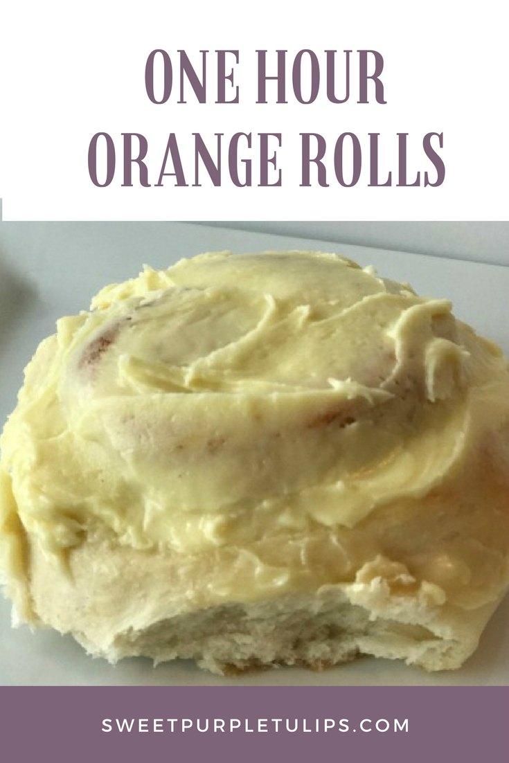 One Hour Orange Rolls
