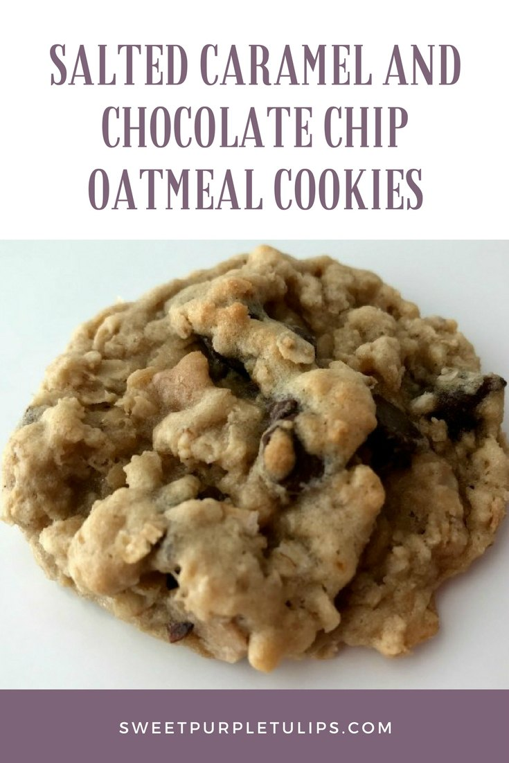Salted Caramel and Chocolate Chip Oatmeal Cookies
