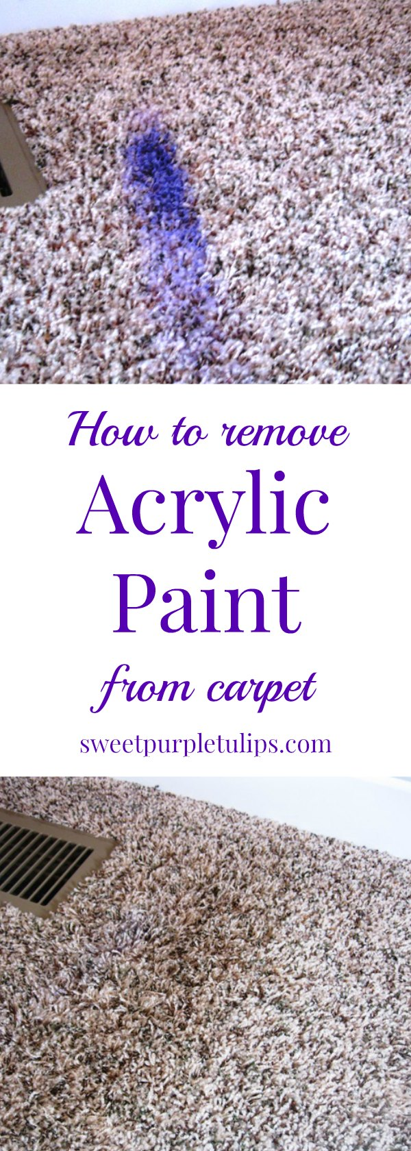How To Remove Acrylic Paint From Carpet Sweet Purple Tulips