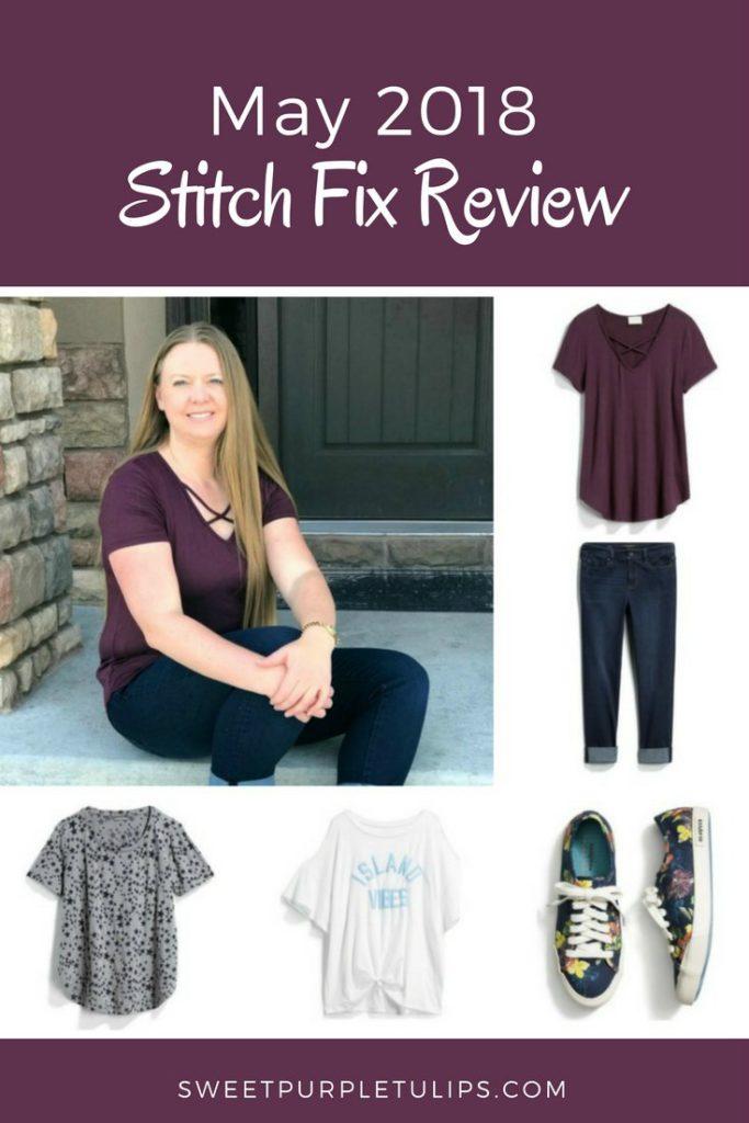 2238262861e457 May 2018 Stitch Fix Review - Sweet Purple Tulips